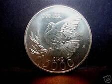 San Marino 5000 Lire 2001 AG FDC (UNC) La Pace