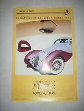 affiche automobile poster louis vuitton RAZZIA 1993 car original talbo lago