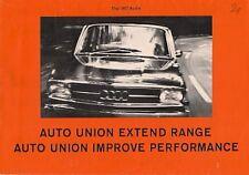 Auto Union Audi 1966-67 UK Market Foldout Sales Brochure 70 80 Super 90