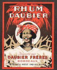 """BORDEAUX (33) ETIQUETTE de RHUM """"Ets. DAUBIER Freres"""""""
