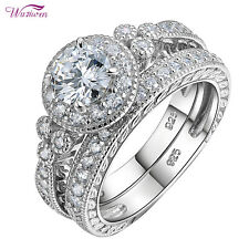 Wedding Ring Set For Women Size 6 New listing Bridal Round White Aaa Cz Engagement Band