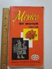 1958 Mexico By Motor Travel Guide,American Automobile Association,Rancho Telva
