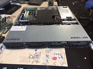SuperMicro 1U Model Part 813M-5 6016T-MT Server with X8DTL-i MB 24GB RAM 520W PS