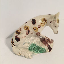 Antique Staffordshire Figure Fox with Game Bird from Wood Family Burslem  c.1790