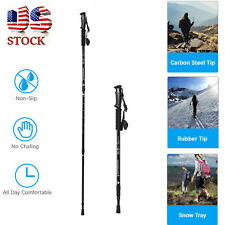Trekking Walking Hiking Sticks Pole Alpenstock Anti-shock 3 Section Adjustable