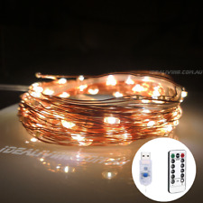 10M LED USB + Remote Control String Fairy Lights Copper Wire Xmas Party Decor