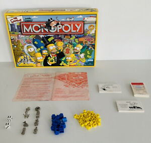 The Simpsons Monopoly Game (2003) RARE - 100% Complete /Custom Simpson's Tokens