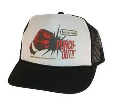 Nintendo Punch Out hat Trucker hat mesh hat adjustable black