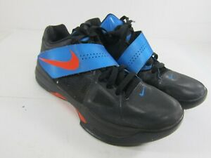 Nike Zoom KD Kevin Durant IV Men's Size 8 Black/Blue/Orange Shoes 473679-001