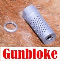 Muzzle brake Lithgow Arms LA101 H1-Multiport - Titanium / Armor Black CERAKOTE