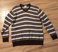 Lacoste Sweater Wool MENS XXL 6 Design Zigzag