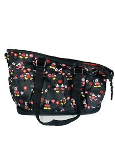 Disney Baby Diaper Bag Mickey Minnie Mouse Black Red Nylon