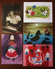 MARY BLAIR*VERY RARE* POST CARDS SET OF 5 WALT DISNEY FAMILY MUSEUM EXHIBIT EXC