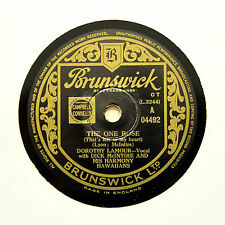 "DOROTHY LAMOUR ""The One Rose / Moon Of Manakoora"" (E+) BRUNSWICK 04492 [78 RPM]"