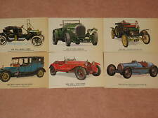 Vintage Car Collectors Reproductions Postcards