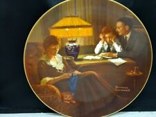 Norman Rockwell plate by Edwin Knowles. Fathers Help, Plate 1070G.