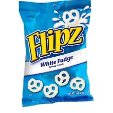 Flipz Chocolate Covered Pretzels, White Fudge, 7.5 Ounce (Pack of 8)