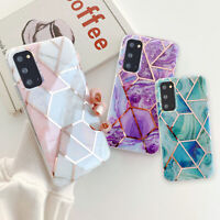 For Samsung Galaxy A11 A21s A51 A71 Case Marble Rubber Bumper Soft Skin Cover