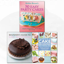 50 Easy Party Cakes,Beginner's Guide & Compendium of Cake 3 Books Collection Set