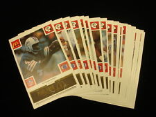 Set of 25 1986 McDonalds Miami Dolphins Black Cards