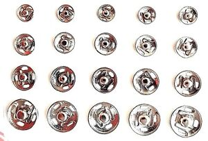 20pc Snap Fasteners Poppers Press Studs Sewing Fastenings Sew 7mm 8mm 10mm 12mm