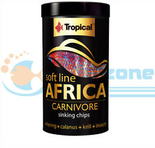 AFRICA SINKING CHIPS  FOR CARNIVORE FISH 130g / 250ml 52g / 100ml TUBE TROPICA