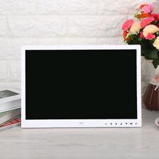 """Cadre photo numérique 15 """"LED Écran tactile Réveil Lecteur mp3 / 4 de film blanc"""