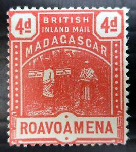 MADAGASCAR 1895 SG58 4d Cat £15 No Gum NS540