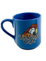 HTF Rainforest Cafe Parrot RIO Bird Blue Collectible Large Coffee Mug Cup 2000