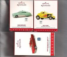 Hallmark Ornament  Keepsake Kustoms 2017 - 2015 Ford Mercury Impala #1 #2 #3 LOT
