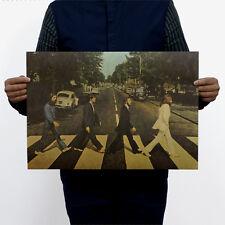 The Beatles Abbey Road NEW Print Rock Music Poster 51x35.5cm Vintage Retro