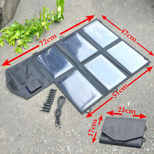 21W Fold Solar Battery Pack Charger USB&DC5521 Backup Powerbank phone notebook