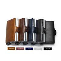 Genuine Leather Purse Credit Card Holder Money Cash Wallet RFID Blocking Wallet
