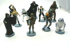 "Star Wars Mini Figurines Lot of 10, 2""-4"" Darth Vader Han Solo R2D2 Chewbacca"