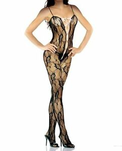 Fantasy Lingerie Bodystocking with Lace Up Front