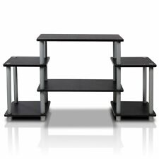 Ultimate TV Stand Flat Screens Up To 42 Inch Black Storage Media Console Table