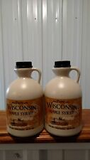 Pure Wisconsin Maple Syrup Medium Amber  2 Half Gallons