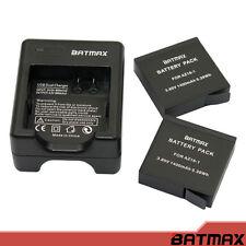 Batmax - for Xiaomi YI 2 4K 1400mAh Rechargeable Battery (2-Pack)+ Dual USB