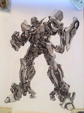 Bumblebee Transformers ART CHARCOAL DRAWING 20X30""
