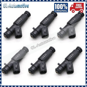 Set of 6 - 4 Hole Fuel Injectors For 1999-2004 JEEP CHEROKEE TJ WRANGLER 4.0L