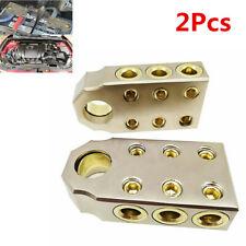 1 Pair Golden Car Audio SAE Top Positive Negative Post 4 Gauge Battery Terminal