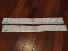 """Set Of Two 2 Powerstroke 24"""" Diesel Truck Decals Stickers White"""