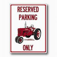 """FARMALL Wooden SIGN - """"Reserved Parking Only"""" - Item #4910-139"""