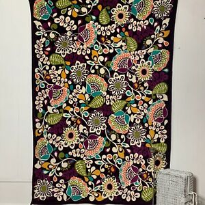 Vera Bradley Oversized Throw Blanket Plum Crazy Purple Floral HTF Rare Retired