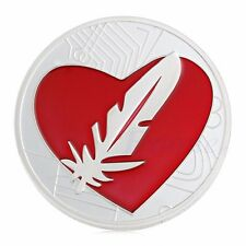 Feather Coin Like Bitcoin Red Heart Love Gold Plated Feathercoin Commemorative