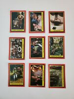 Lot of (9) Vintage 1983 Topps Star Wars Return of the Jedi Series 1 Cards