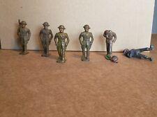 "Vintage BARCLAY Metal SET Of (6) Infantry Figures Painted 3"""
