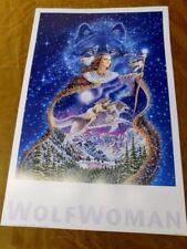 SALLY J SMITH WOLF WOMAN PRINT POSTER 24X36
