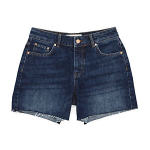 Superdry Denim Mid Length Womens Shorts - Indigo Dark Rinse All Sizes