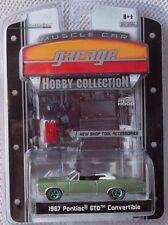 1967 PONTIAC GTO CONV 1:64 Greenlight Hobby MC Garage GREEN MACHINE Chase #28/82